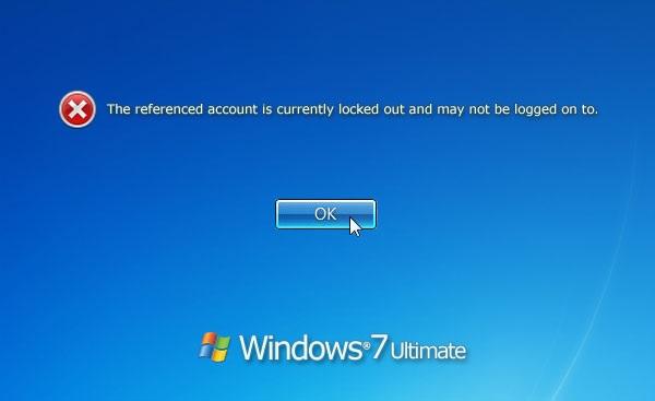 windows 7 admin account locked