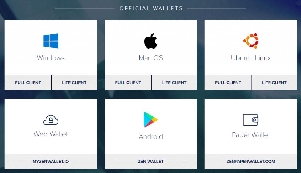 zencash wallet option