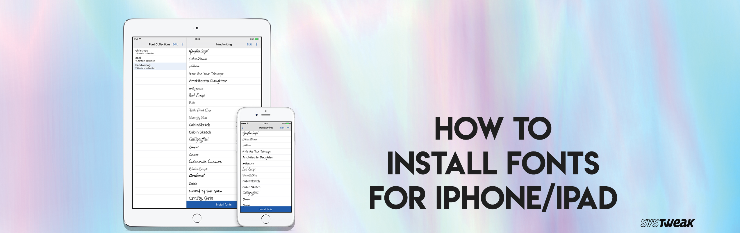 How to Install Fonts on iPhone or iPad?