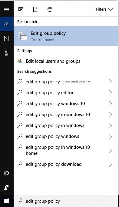 Disable Cortana on Windows Pro