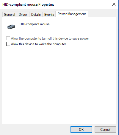 Disable the option- Allow Device To Wake Computers -5