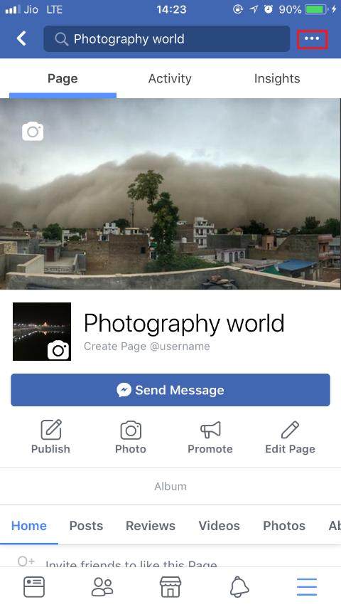 Facebook page app