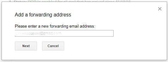 how to get yahoo email forwarded to gmail