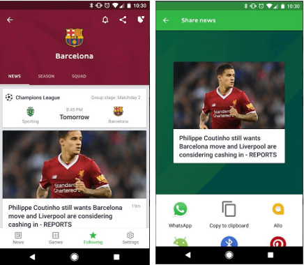 OneFootball- FIFA 2018 apps