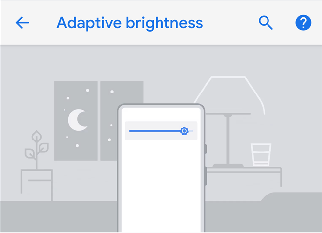 android p Adaptive Brightness
