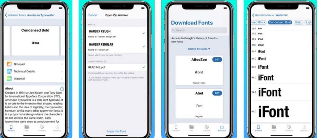 install fonts on iphone