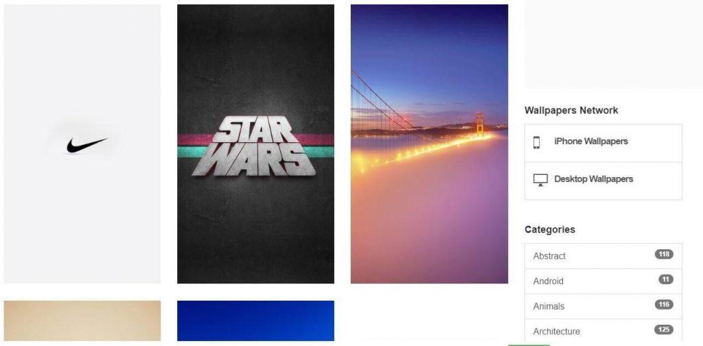 Websites to download wallpapers