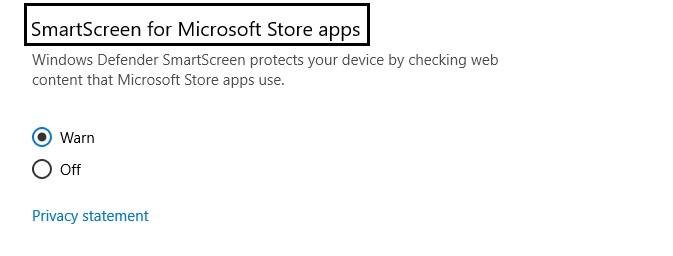 disable windows SmartScreen