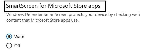 SmartScreen Filter in windows 10