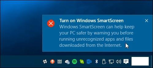 disable SmartScreen Filter windows 10,