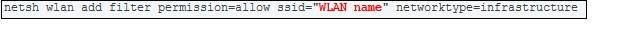 Add WiFi Network in Filter
