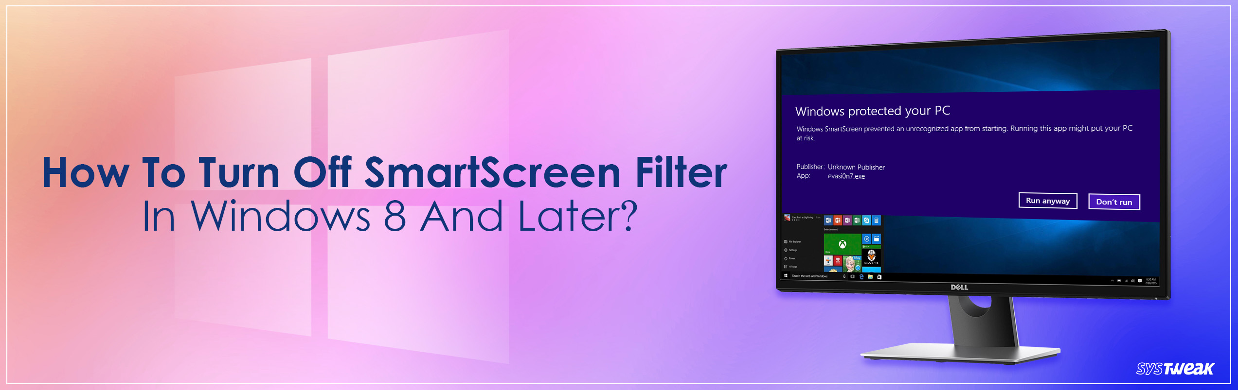 How to Turn off SmartScreen Filter in Windows 10 or 8?