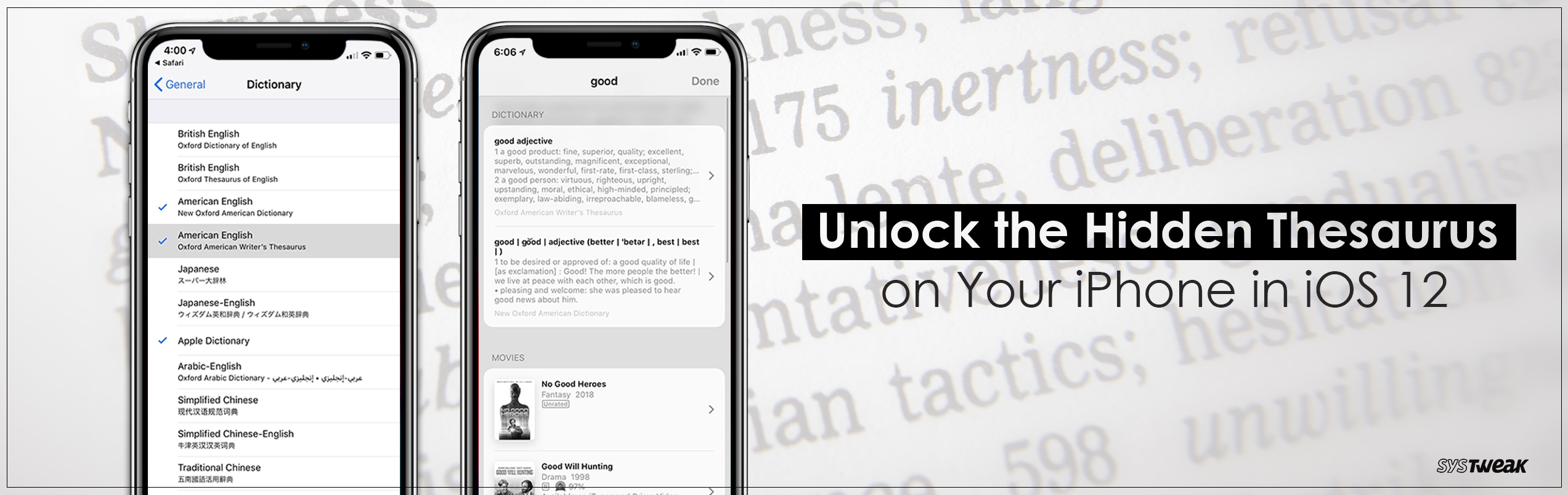 How To Unlock The Hidden Thesaurus On Your iPhone in iOS 12?