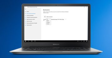 Eliminate Files & Folders From Being Scanned On Windows 10