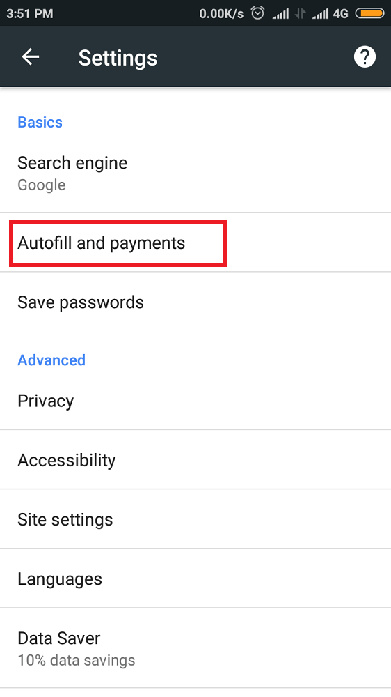 Disable Autofill