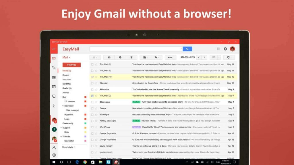 Easymail on gmail - How To Use Google services On Windows 10