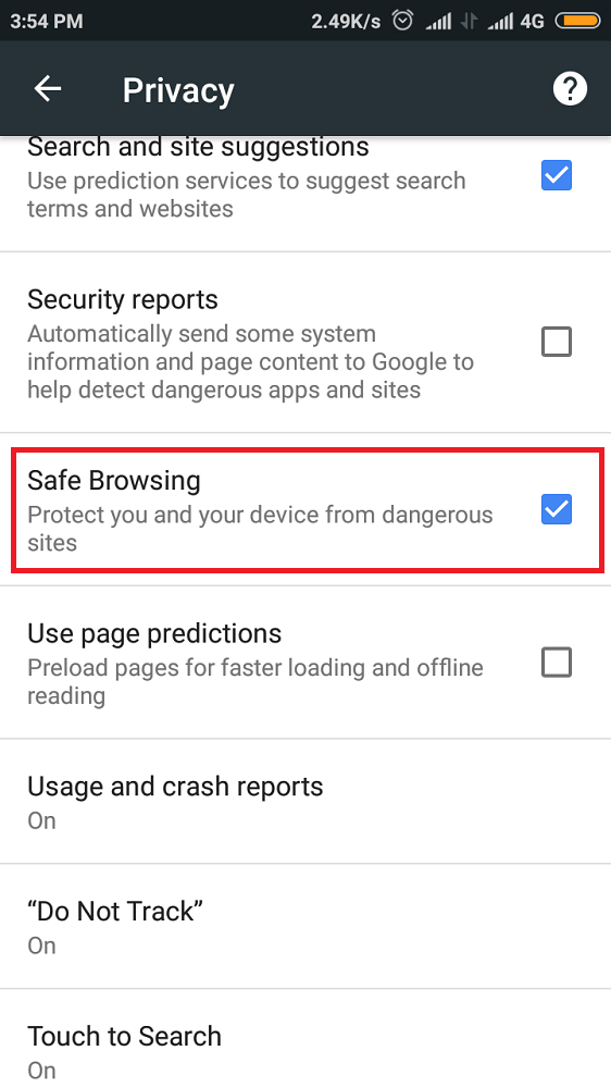 Enable Safe Browsing-1