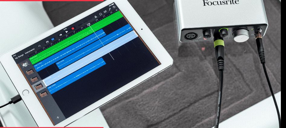 Focusrite iTrack Solo Lightning- ios audio interfaces