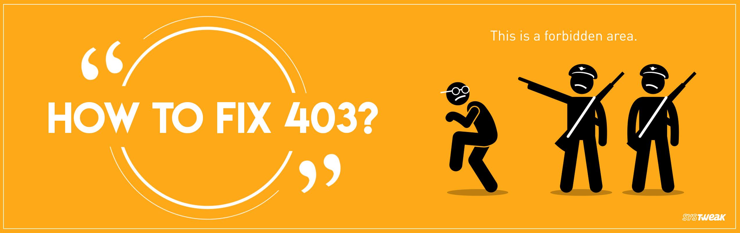 How To Fix 403 Forbidden Error