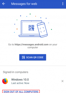 How to Log out of Android Messages App from Your PC-3