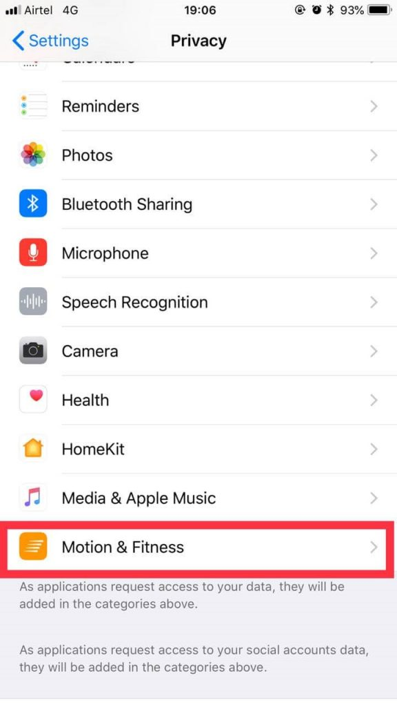 Motion & fitness