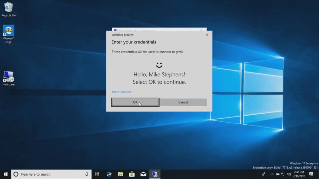 Remote Desktop windows 10