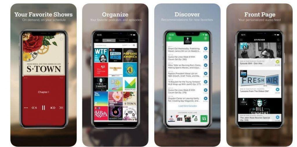 Stitcher radio- podcasting app for iphone