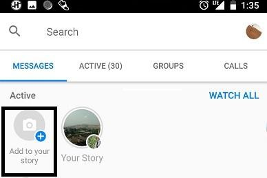 add messenger story