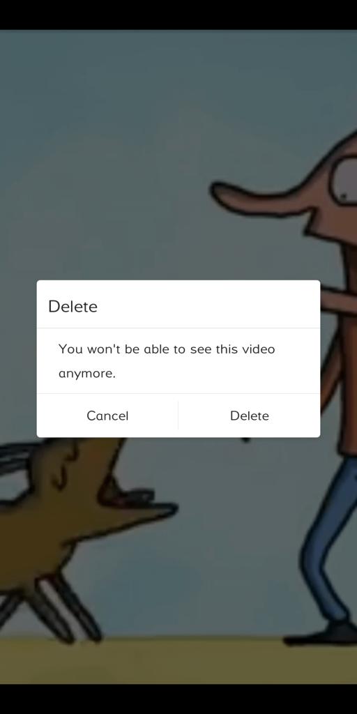 delete video on igtv