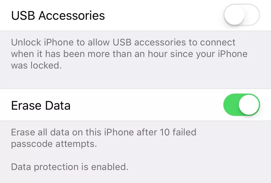 erase data ios