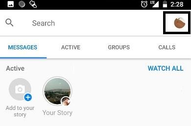 hide story messanger