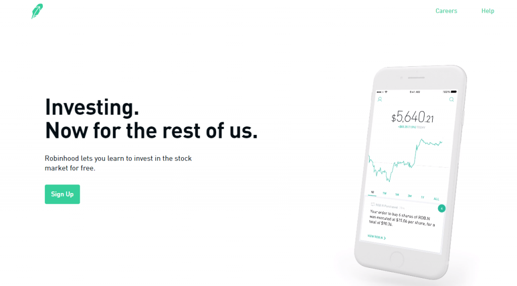 robinhood app for invest