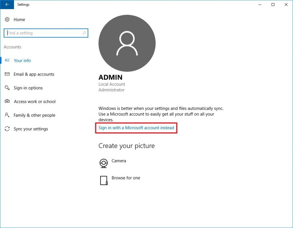 sign in microsoft account with xbox