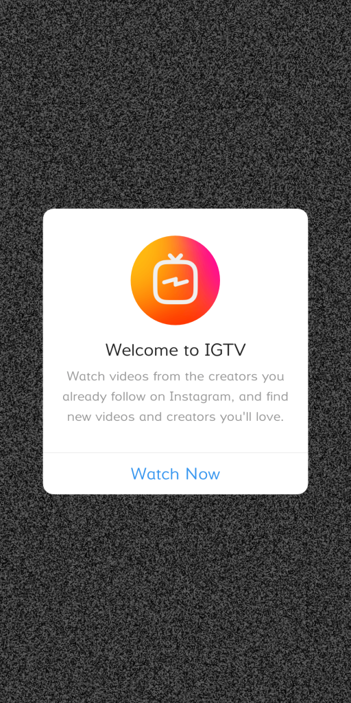 welcome to igtv