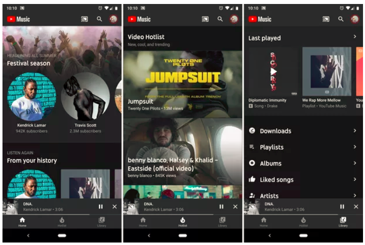 youtube Intuitive Layout