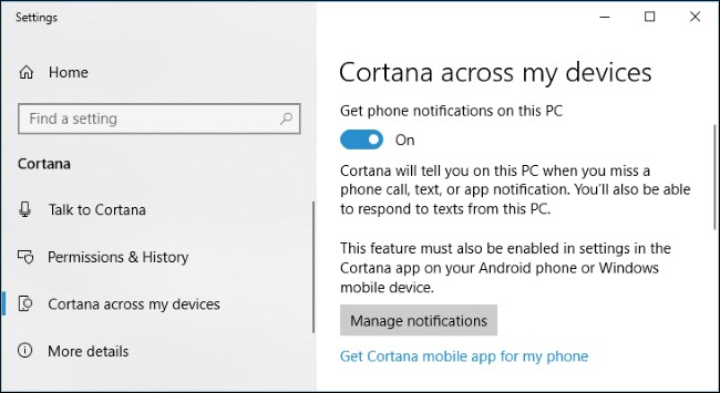 Linking Windows 10 with your Smartphone