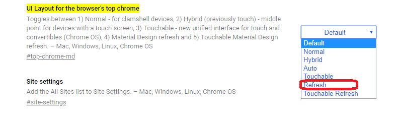 Enable Chrome's New Material Design On Windows-4