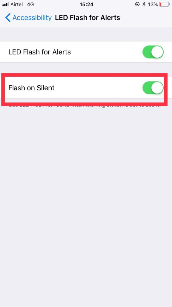 How to Turn on LED Flash in Silent Mode - 5