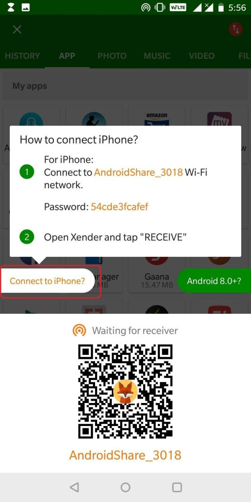 Send Files From Android To iPhone Using Xender-3