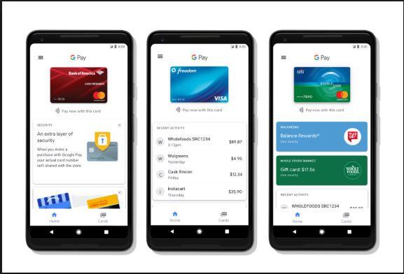 google pay online wallet app