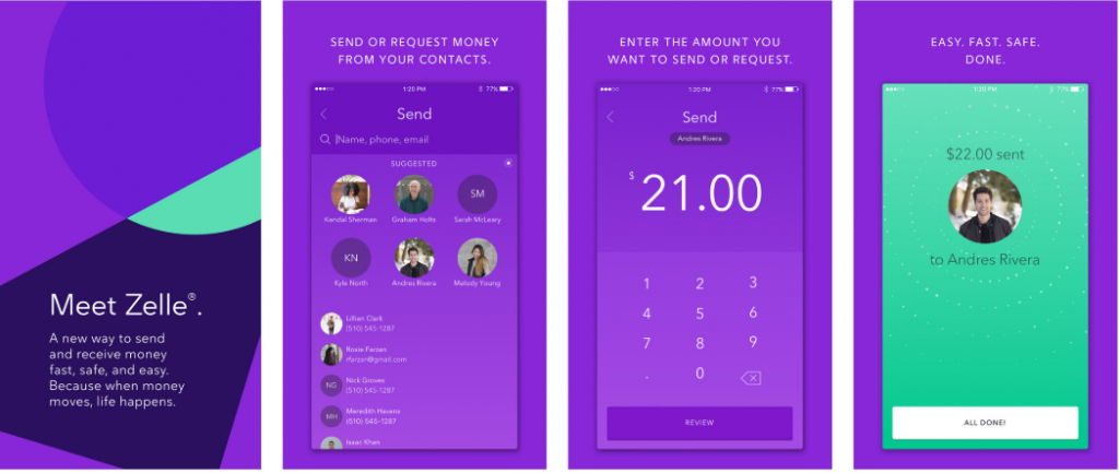 zelle app for android and ios payment