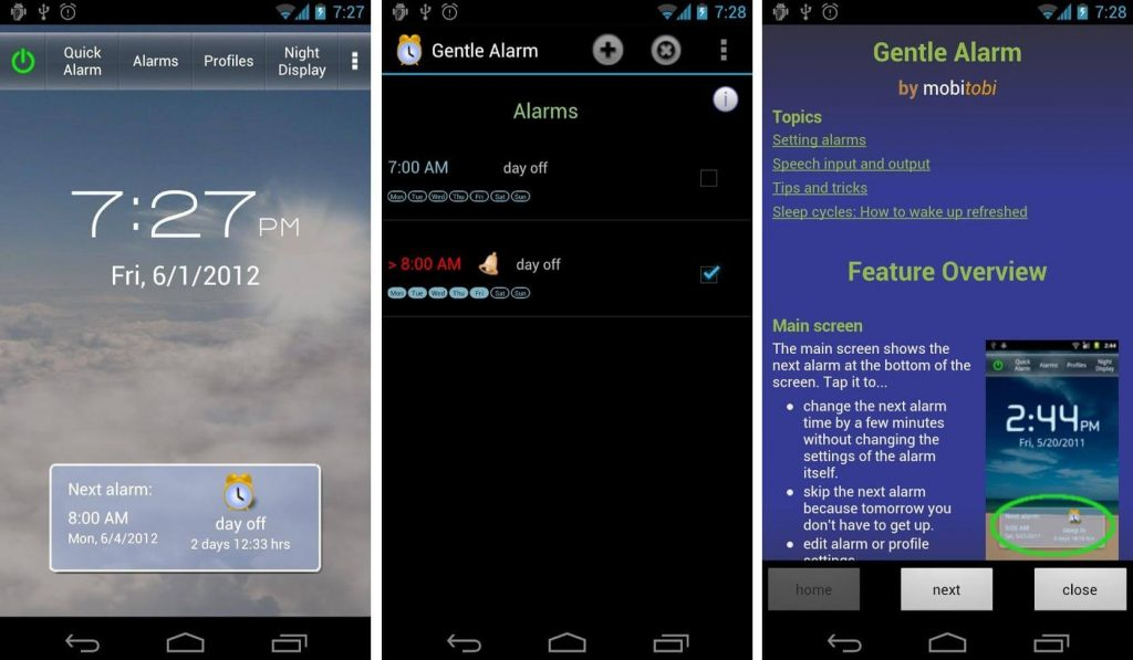 Gentle Alarm- alarm app for android