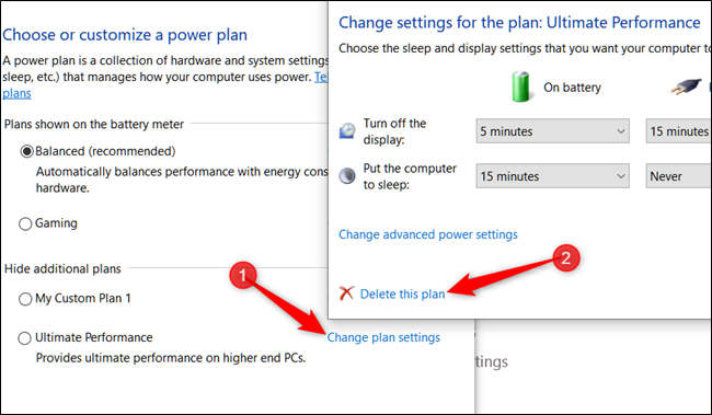 How to Change Performance Power Plan