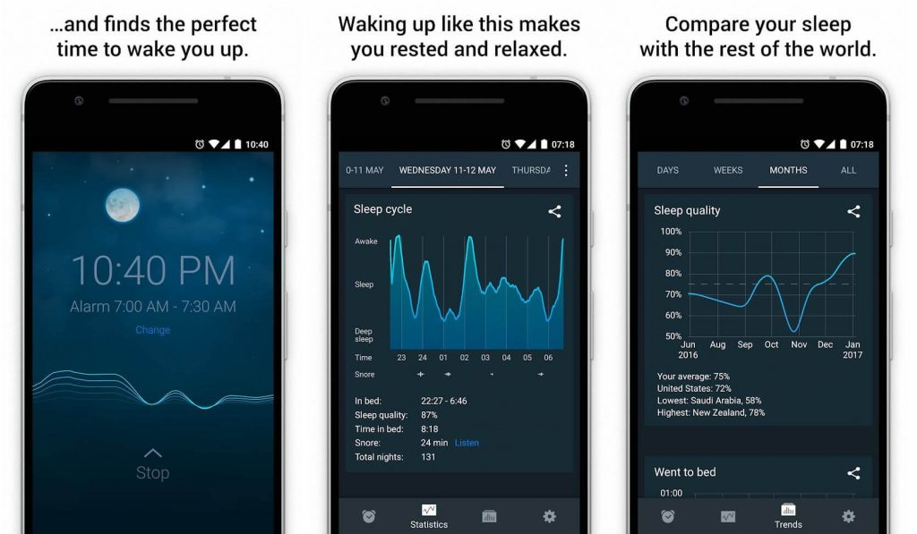 Sleep Cycle alarm clock - app for android