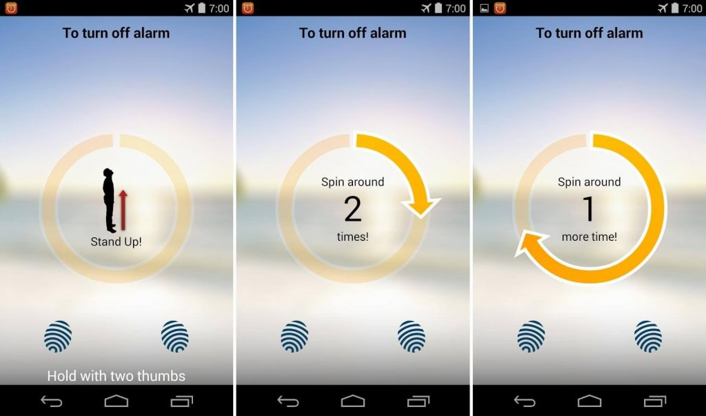 SpinMe Alarm Clock for android