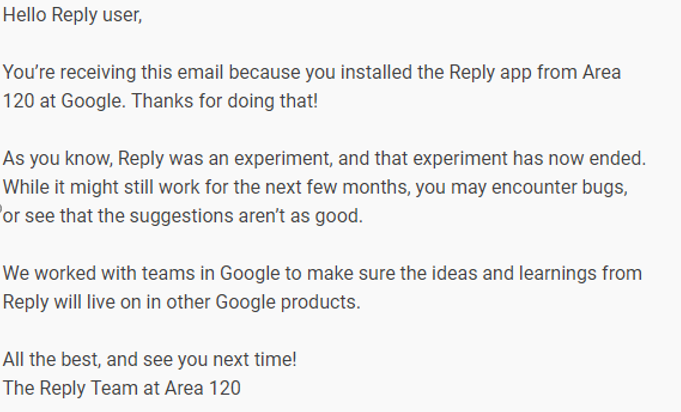google smart reply