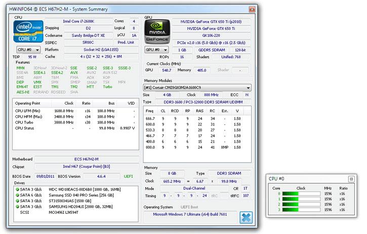 HWiNFO- system information tool