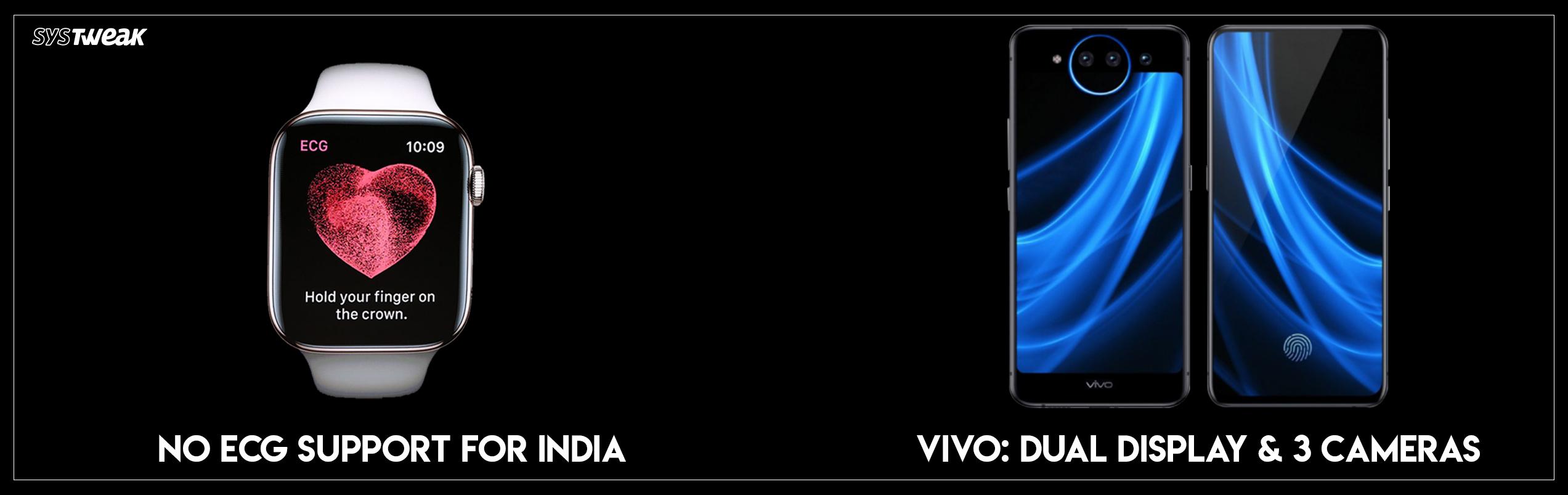 Newsletter: WatchOS 5.1.2 Update: No Ecg For India & Vivo's Dual Display, 3 Camera Smartphone