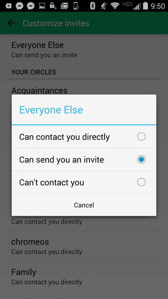Customize Who Can Contact You