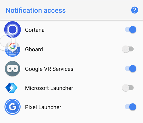 notification access windows 10 to phone